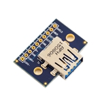 USB Type AFemale Breakout Board with mounting holes